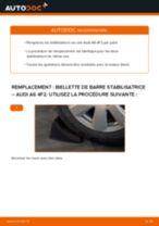 Comment changer : biellette de barre stabilisatrice arrière sur Audi A6 4F2 - Guide de remplacement
