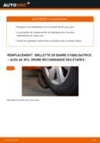 Changement Biellette De Barre Stabilisatrice AUDI A6 : manuel d'atelier