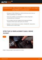 Comment changer : filtre d'habitacle sur Audi A6 4F2 - Guide de remplacement