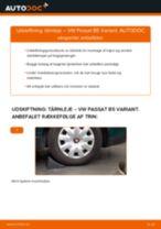 Udskift tårnleje bag - VW Passat B5 Variant   Brugeranvisning
