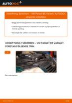 Lær hvordan skifter Støddæmper bag på VW - gratis instruktionsbog
