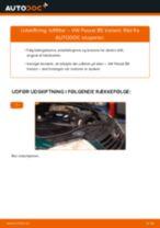 Udskift luftfilter - VW Passat B5 Variant   Brugeranvisning