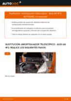 Cómo cambiar: amortiguador telescópico de la parte delantera - Audi A6 4F2   Guía de sustitución