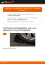 Cómo cambiar: amortiguadores de la parte trasera - Audi A6 4F2   Guía de sustitución