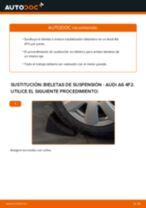 Cómo cambiar: bieletas de suspensión de la parte trasera - Audi A6 4F2   Guía de sustitución