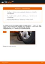 Cómo cambiar: bieletas de suspensión de la parte delantera - Audi A6 4F2   Guía de sustitución