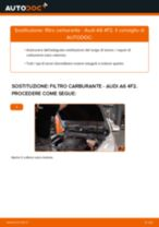 MANN-FILTER WK 853/3 x per A6 Sedan (4F2, C6)   PDF istruzioni di sostituzione