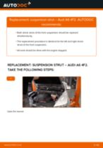 Fitting Struts and shocks AUDI A6 (4F2, C6) - step-by-step tutorial