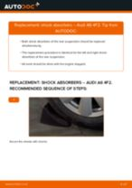 How to replace and adjust Shock absorbers AUDI A6: pdf tutorial