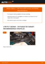 Hur byter man Spiralfjädrar bak och fram VW PASSAT Variant (3B6) - handbok online