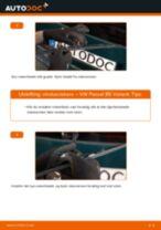 Slik bytter du vindusviskere bak på en VW Passat B5 Variant – veiledning