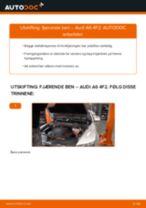 Slik bytter du fjærende ben fremme på en Audi A6 4F2 – veiledning