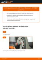 Kuinka vaihtaa pyöränlaakerit eteen VW Passat B5 Variant-autoon – vaihto-ohje