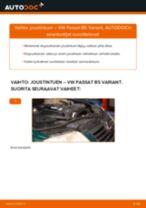 Kuinka vaihtaa joustintuki eteen VW Passat B5 Variant-autoon – vaihto-ohje