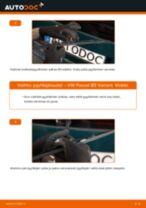Kuinka vaihtaa pyyhkijänsulat taakse VW Passat B5 Variant-autoon – vaihto-ohje