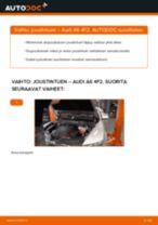 Kuinka vaihtaa joustintuki eteen Audi A6 4F2-autoon – vaihto-ohje