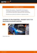 Zalecenia mechanika samochodowego dotyczącego tego, jak wymienić PEUGEOT Peugeot 206 cc 2d 2.0 S16 Filtr powietrza kabinowy