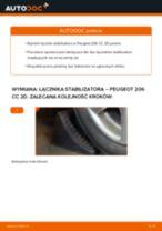 Zalecenia mechanika samochodowego dotyczącego tego, jak wymienić PEUGEOT Peugeot 206 cc 2d 2.0 S16 Końcówka drążka kierowniczego poprzecznego