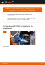 Zalecenia mechanika samochodowego dotyczącego tego, jak wymienić PEUGEOT Peugeot 206 cc 2d 2.0 S16 Tarcza hamulcowa