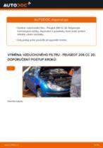 Jak vyměnit vzduchový filtr na Peugeot 206 CC 2D – návod k výměně