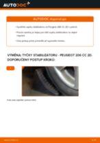 Jak vyměnit přední tyčky stabilizátora na Peugeot 206 CC 2D – návod k výměně