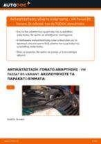Αλλαγή Αμορτισέρ VW PASSAT: εγχειριδιο χρησης