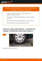 Kako zamenjati avtodel ležaj amortizerja zadaj na avtu VW Passat B5 Variant – vodnik menjave