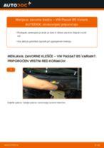 Kako zamenjati avtodel zavorne klešče zadaj na avtu VW Passat B5 Variant – vodnik menjave