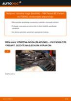 Kako zamenjati avtodel vzmetna noga (blazilnik) spredaj na avtu VW Passat B5 Variant – vodnik menjave