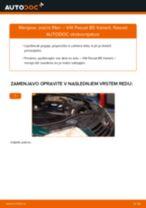 Kako zamenjati avtodel zračni filter na avtu VW Passat B5 Variant – vodnik menjave