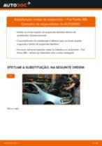 Como mudar molas de suspensão da parte dianteira em Fiat Punto 188 - guia de substituição