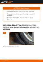 Препоръки от майстори за смяната на PEUGEOT Peugeot 206 cc 2d 2.0 S16 Колесен лагер