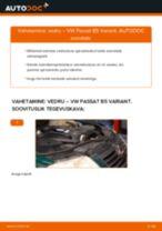 Asendamine Vedrustus VW PASSAT: käsiraamatute