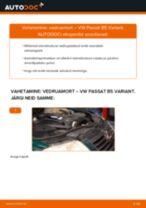 Kuidas vahetada ja reguleerida Amort VW PASSAT: pdf juhend