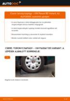 Hátsó toronycsapágy-csere VW Passat B5 Variant gépkocsin – Útmutató