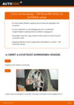 Elülső toronycsapágy-csere VW Passat B5 Variant gépkocsin – Útmutató