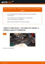 Elülső futómű rugó-csere VW Passat B5 Variant gépkocsin – Útmutató