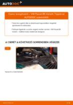 Levegőszűrő-csere VW Passat B5 Variant gépkocsin – Útmutató