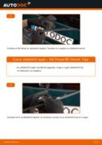 Hátsó ablaktörlő lapát-csere VW Passat B5 Variant gépkocsin – Útmutató