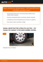 Kā nomainīt: aizmugures amortizatoru atbalsta gultņi VW Passat B5 Variant - nomaiņas ceļvedis