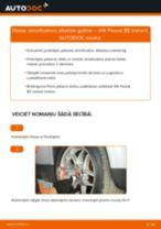 Kā nomainīt: priekšas amortizatoru atbalsta gultņi VW Passat B5 Variant - nomaiņas ceļvedis
