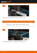 Kā nomainīt un noregulēt Stikla tīrītāja slotiņa VW PASSAT: pdf ceļvedis