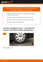 Pakeisti Amortizatoriaus Atraminis Guolis VW PASSAT: instrukcija