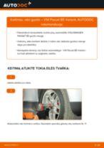 Kaip pakeisti ir sureguliuoti Rato guolis VW PASSAT: pdf pamokomis