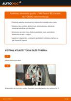 Nemokamos internetinės instrukcijos kaip atnaujinti Amortizatoriaus atrama VW PASSAT Variant (3B6)