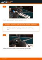 VW PASSAT Varikliukas, priekinio stiklo valytuvai keitimas: nemokamas pdf