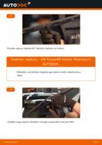 Kaip pakeisti VW Passat B5 Variant valytuvų: priekis - keitimo instrukcija