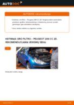 Kaip pakeisti Peugeot 206 CC 2D oro filtro - keitimo instrukcija