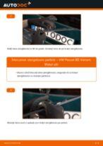 Cum se înlocuiesc și se ajustează Lamela stergator VW PASSAT: manual pdf