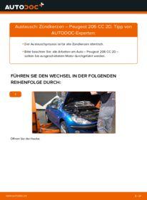 Wie der Wechsel durchführt wird: Zündkerzen 1.6 16V Peugeot 206 CC tauschen